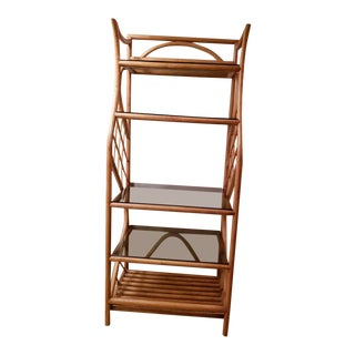 1950s Boho Chic Bamboo Etagere For Sale