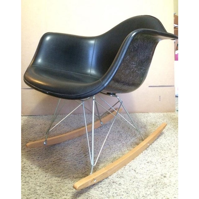 Herman Miller Eames Fiberglass Rocking Chair - Image 3 of 10
