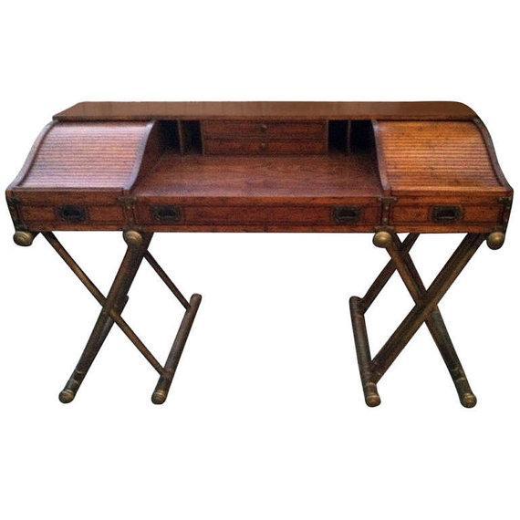 Drexel Mid Century Modern Roll Top Desk For Sale