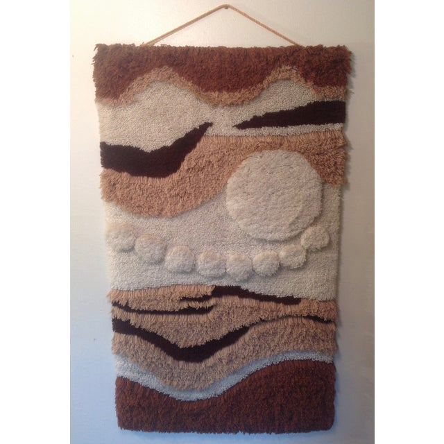 Danish Modern Wool Rya Hand Knotted Textile - Image 3 of 7
