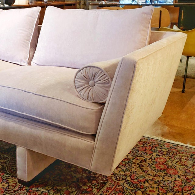 Pink Vintage Edward Wormley Sofa 5485 for Dunbar For Sale - Image 8 of 12