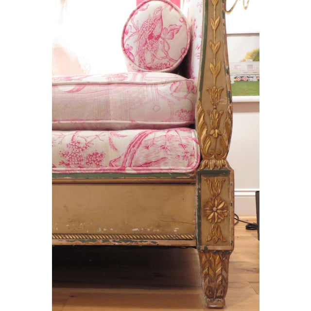 Fabric Antique Daybed/Fainting Sofa For Sale - Image 7 of 11
