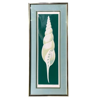 1980s W. Woodard Signed Embossed Shell Framed Print For Sale
