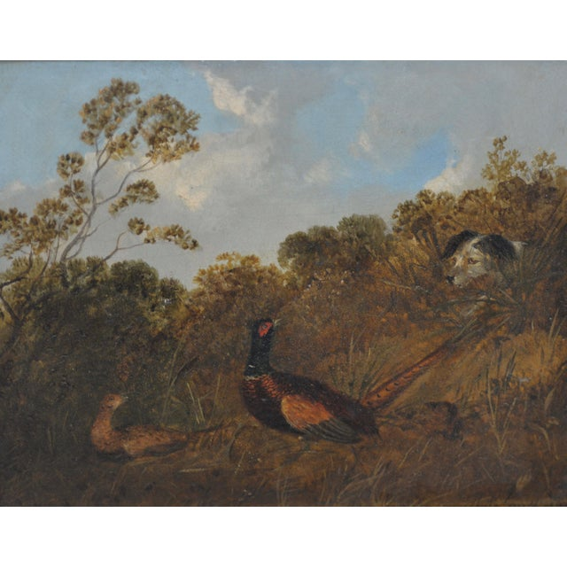 Pair of Early 20th C. Pheasant Hunt Oil Paintings For Sale - Image 5 of 11