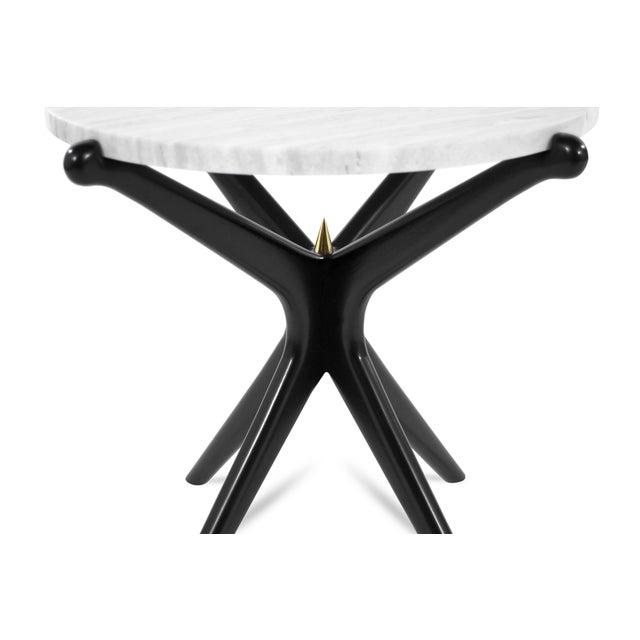 Marble Ebonized Gazelle Side Table For Sale - Image 7 of 8