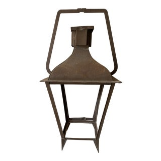 French Antique Iron Lantern - 19th C For Sale