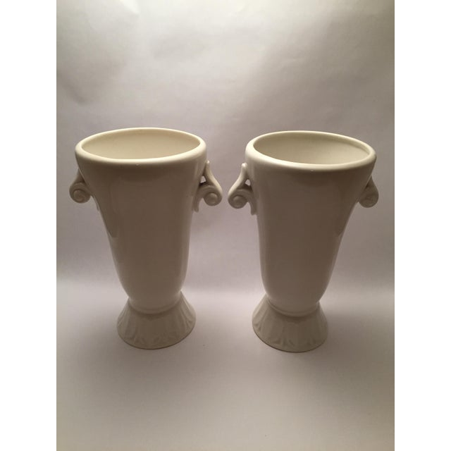 Abingdon Pottery Mid-Century Vases - a Pair For Sale In Philadelphia - Image 6 of 6