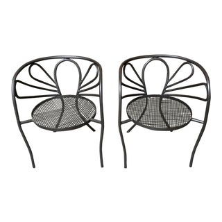 Walter Coons for Clark & Burchfield Club Chairs - a Pair