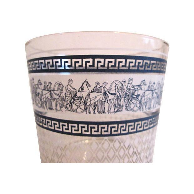 Midcentury Grecian Ice Bucket & Glasses - Set of 4 - Image 3 of 6