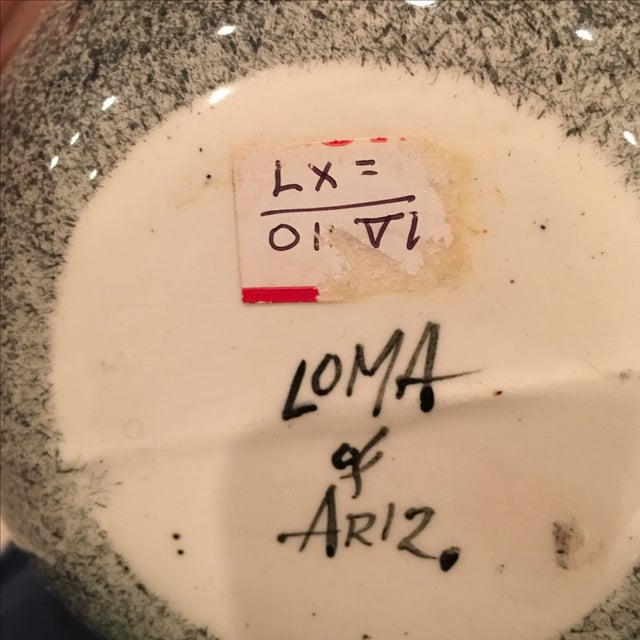 Mid-Century White Loma of Arizona Pottery Vessel For Sale In Charlotte - Image 6 of 6
