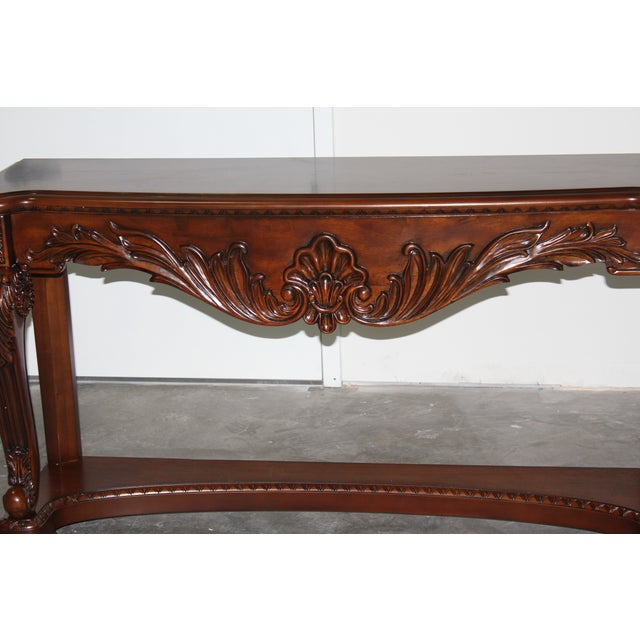 Carved Wood Coffee Table - Image 4 of 6