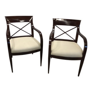 Baker Furniture Arm Chairs - a Pair For Sale