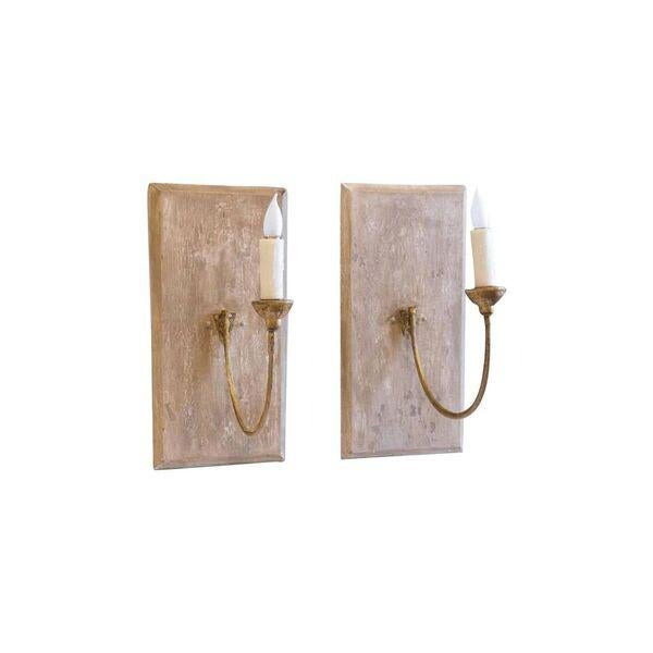 Pair of Large 19th Century Gilt Iron Sconces - Image 9 of 10