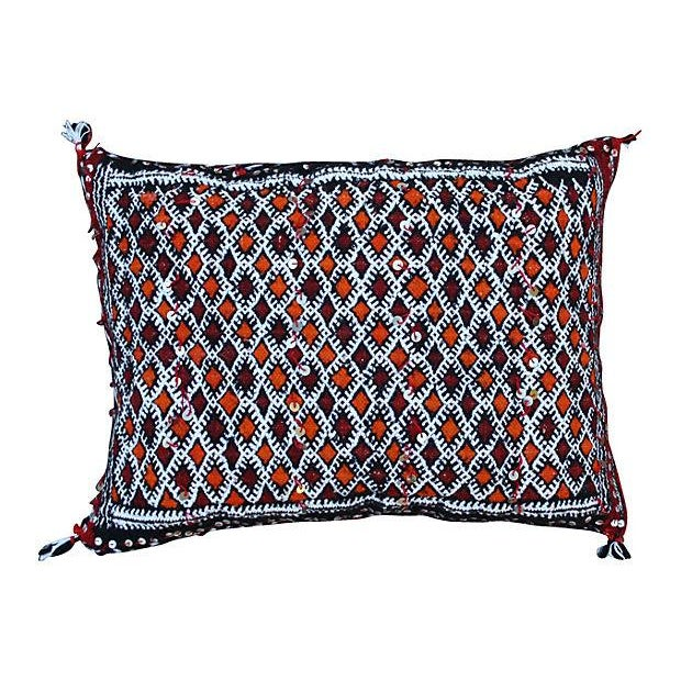 Orange-Diamonds Berber Pillow - Image 1 of 2
