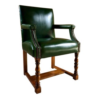 Howard & Sons Green Dining Chair For Sale