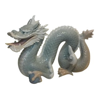 Asian Modern Porcelain Dragon Figurine
