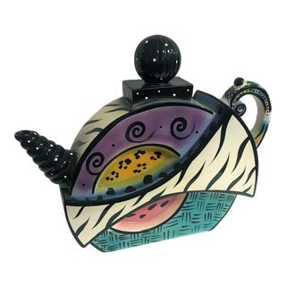 Michael Anthony Ceramic Teapot/Vase, Signed For Sale