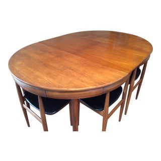 "1960s Mid Century Modern ""Frem Rojle"" Solid Teak Dining Set - 7 Pieces For Sale"