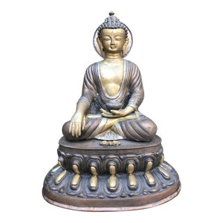 Antique Sitting Buddha Statue For Sale