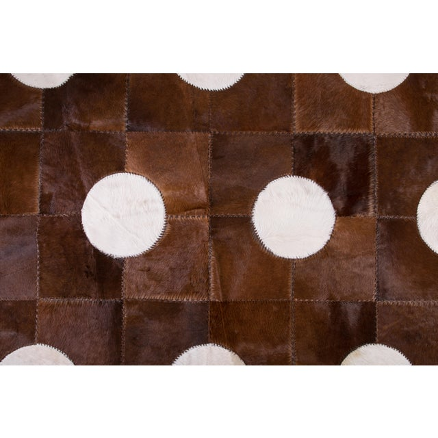 "Contemporary Aydin Cowhide Patchwork Accent Area Rug - 5'1"" x 7'7"" For Sale - Image 3 of 6"