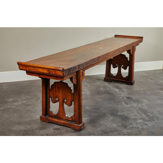 18th Century Ming Scroll Console Table For Sale - Image 10 of 10