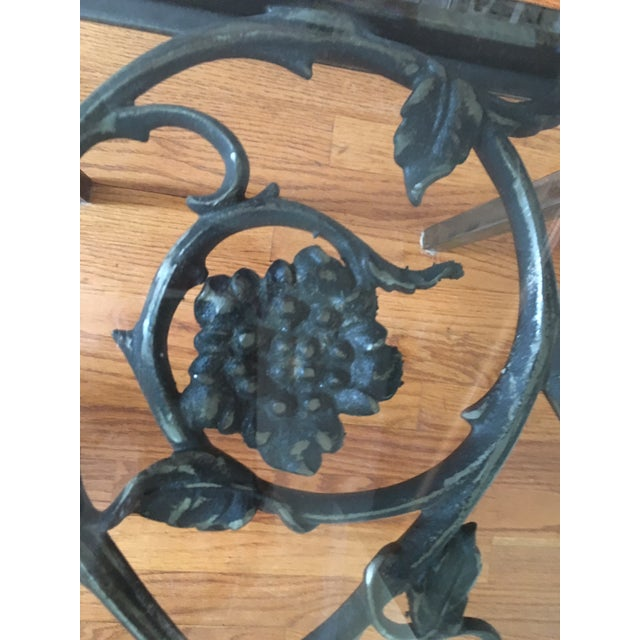 19th Century French Iron and Glass Coffee or Accent Table For Sale - Image 4 of 9