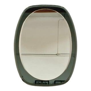 1970s Italian Oval Wall Mirror