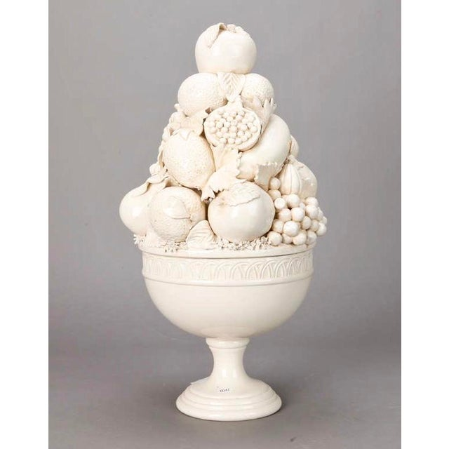 Tall Italian Porcelain Fruit Compotes - A Pair - Image 4 of 5