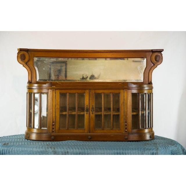 Vintage French Oak Breakfront Display Cabinet For Sale - Image 10 of 10