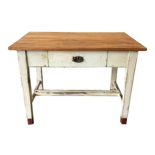 19th Century European Table With Drawer For Sale