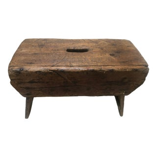 19th Century Hand Crafted Wooden Stool For Sale