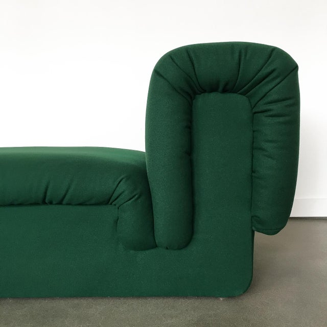 Fabric Pair of Italian Fully Upholstered Modernist Chaise Longues For Sale - Image 7 of 13