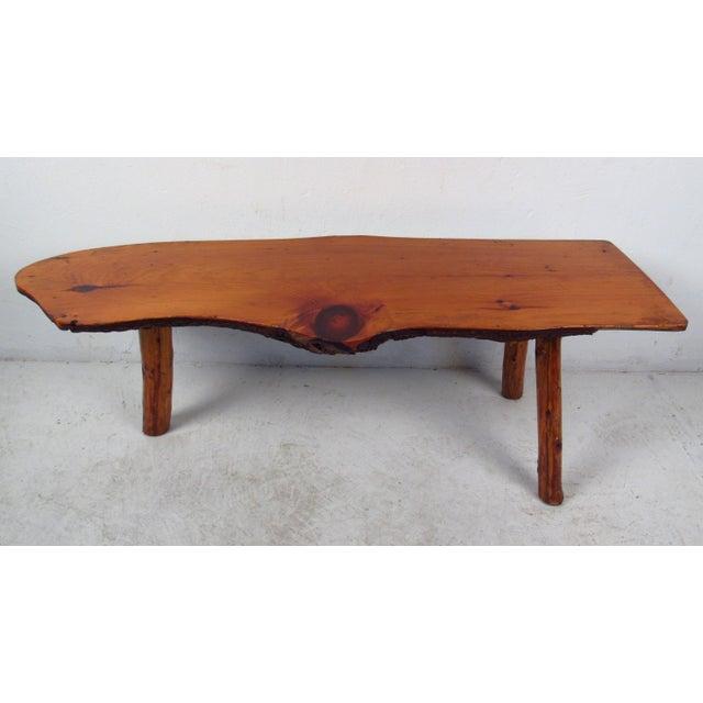 Mid Century Rustic Tree Trunk Coffee Table Chairish