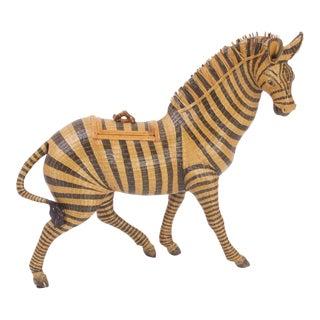Wicker Zebra Box For Sale