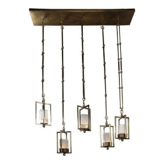 Nout 5 Lanterns Gold Pendants by Christine Rouviere For Sale