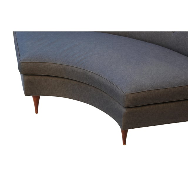 Textile Tufted Mid-Century Settee, Banquette, or Loveseat For Sale - Image 7 of 10