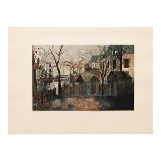 1950s Maurice Utrillo, Renoir's Garden First Edition Lithograph For Sale