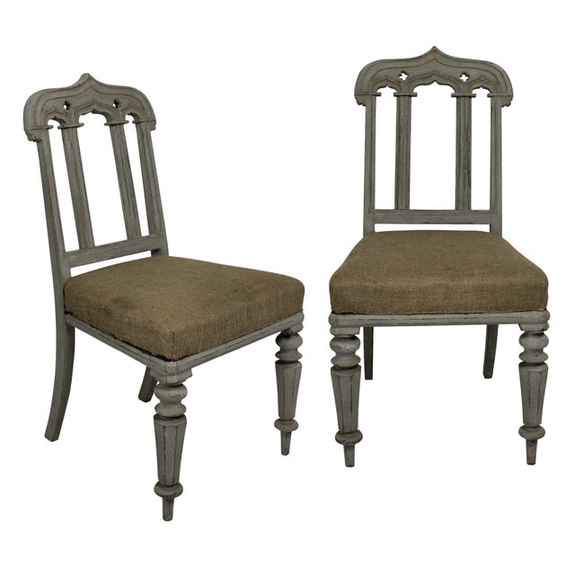Mid 19th Century Pair of Gothic Chairs For Sale - Image 5 of 5