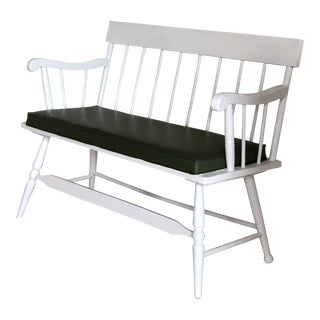 White Farmhouse Wooden Bench For Sale