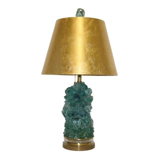 Stacked Candy Rock Glass Lamp With Shade For Sale