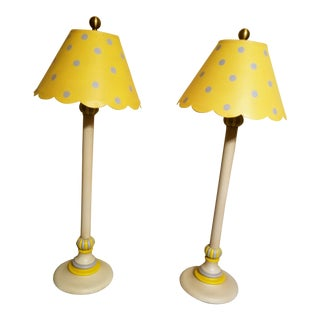 Vintage Wildwood Kitche Candlestick Lamps - a Pair For Sale