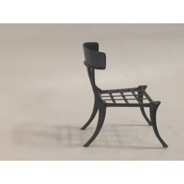 Mid-Century Modern Klismos Outdoor Chair For Sale - Image 3 of 5