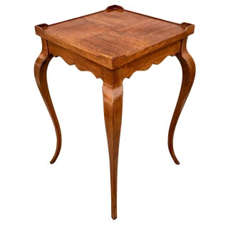 1980s French Hekman Furniture Walnut Side Wine Table For Sale
