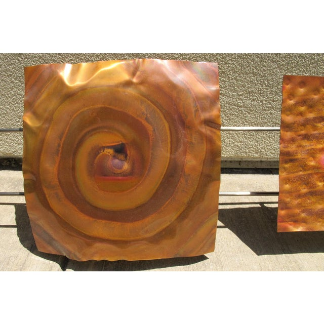 "1970s 1970s Vintage Curtis Jere for Artisan House ""Copper Pillow Single"" Wall Hanging For Sale - Image 5 of 9"
