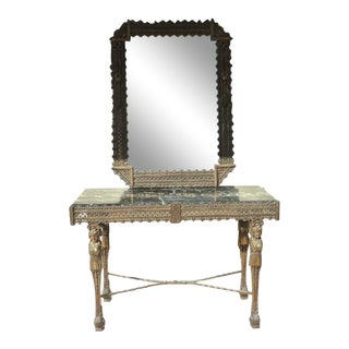 1920's Antique French Wrought Iron Vanity