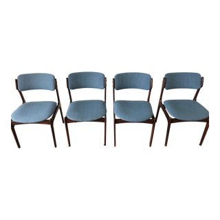 Erik Buch Rosewood Dining Chairs - Set of 4 For Sale