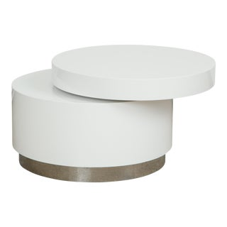 Modern Swivel White Coffee Table For Sale