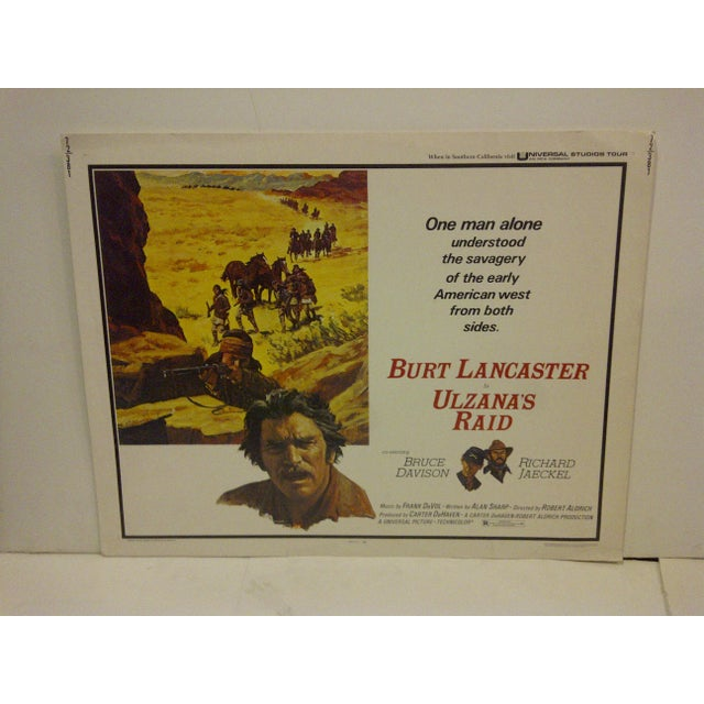 "This is a vintage movie poster (72/381) of ""Ulzana's Raid"" starring Burt Lancaster from 1972. The poster is in very good..."