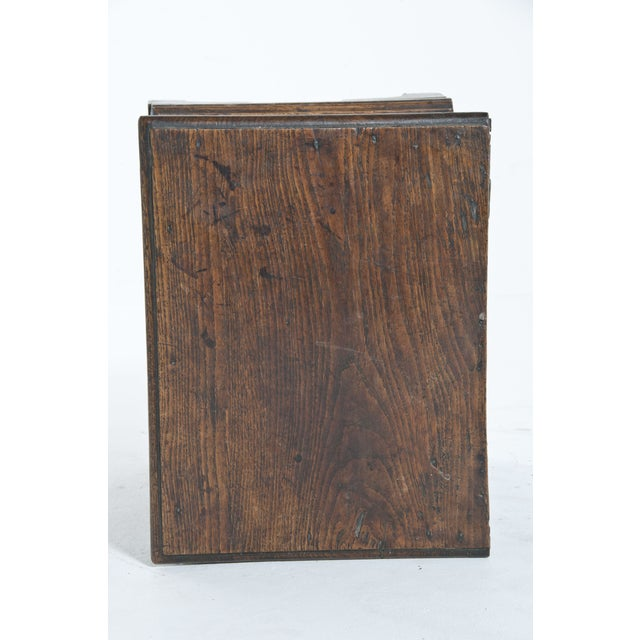 Brown Vintage Oak Trunk For Sale - Image 8 of 10