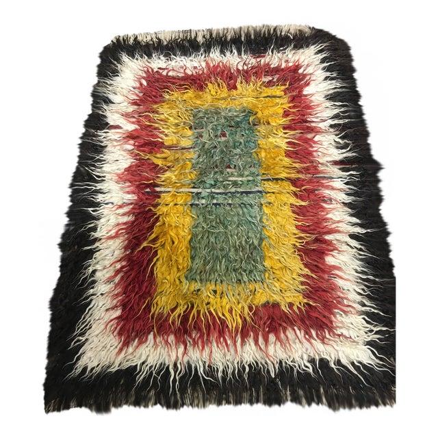 "Bellwether Rugs Vintage Turkish Toloo Kilim Rug - 3'2"" x 4'10 - Image 1 of 6"